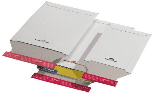 ColomPac Karton-Versandtaschen weiß 25,0 x 35,3 cm (BxH) Außenmaße geeignet fur A4+