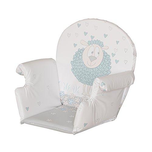 Geuther, Coussin d'assise avec accoudoir pour toutes les chaises hautes Geuther sauf Swing , PVC, Motif:Mouton