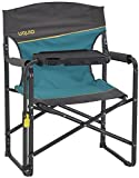 Uquip Woody Portable Folding Directors Chair with Tiltable Table