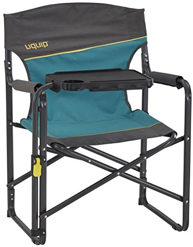 Uquip Woody - Portable Folding Directors Chair with Tiltable Table