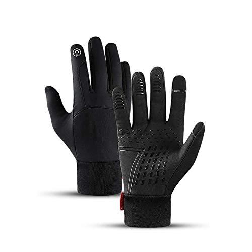 Guantes de bicicleta unisex pantalla táctil antideslizante guantes de ciclismo a prueba de viento mitones a prueba de agua para ciclismo en funcionamiento que manejan el trabajo de esquí de trabajo