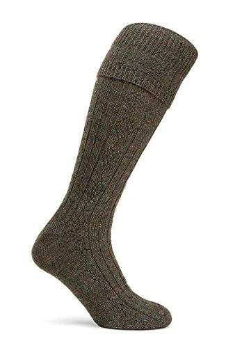 Pennine The Beater Jagdstrümpfe, für Knickerbocker-Hosen, Jagdkleidung, hergestellt in Großbritannien, 80% Wolle, 20% Nylon, Beater, grün, D418