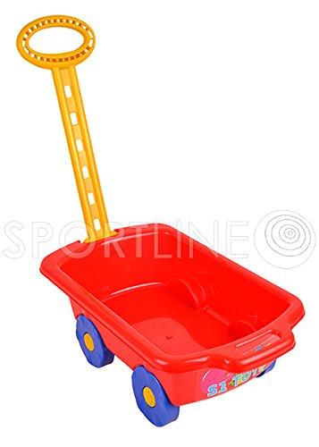 Gartengeräte für Kinder Schubkarre Garten Kinder Spielzeug Sandspielzeug Sandkasten mit Griff Laufkatze (Rot)