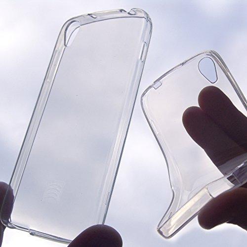 Schutzhülle aus Silikongel weiß transparent halbhart für Alcatel OT 6045Y Idol 3 5,5 Zoll