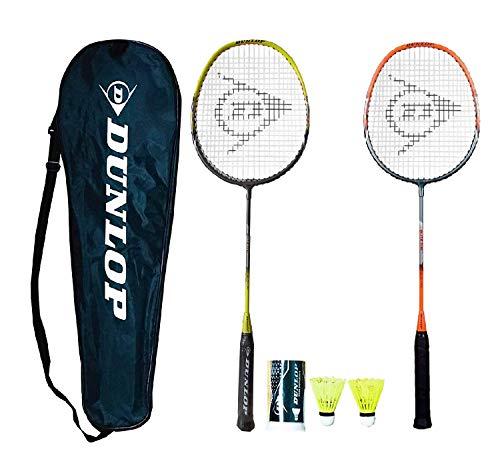 DUNLOP X-Lite - Raqueta de squash (funda protectora y 3 pelotas de squash, color amarillo)