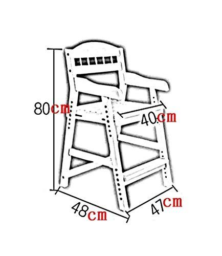 GBX Tritthocker, Hebestuhl Massivholz-Lernstuhl Verstellbarer Rückenstuhl Mit Handlauf-Kinderhockerleitern,Nussbaum