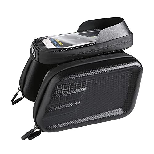 1 unid bici frontal marco bolsa de montaña para teléfono inteligente rotación para GPS teléfono móvil 18 × 14 × 20 cm