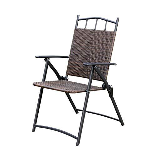 Z-Life Polyrattan Gartenstühle Klappstuhl Rückenlehne Relax-Sessel for Garten Und Terrasse Nutzung Indoor Outdoor Wicker Stuhl