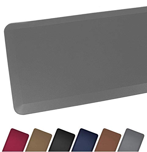 Anti Fatigue Comfort Floor Mat By Sky Mats -Commercial Grade Quality Perfect for Standup Desks, Kitchens, and Garages - Relieves Foot, Knee, and Back Pain (20x32x3/4-Inch, Gray)