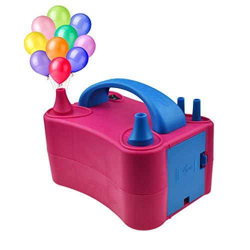 Voniry bomba de globos electrico bomba de aire eléctrica para globos 400 W ≤ 85 dB portátil doble boquilla infladora/ventilador, para fiestas, decoración