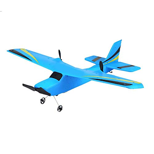 Niños RC Plane, ZC-Z50 EPP Foam Wing Fixed 2.4G Control Remoto Planeador Avión al Aire Libre Carga USB RC Modelo Juguete Juguete Fácil Listo Volar, Gran Regalo Juguete para Adulto Principiante(Azul)