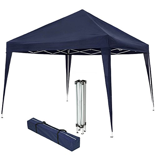 TecTake 800180 Tonnelle de Jardin Tente Réception Pavillon Barnum Chapiteau 3x3m Pliante Pliable - diverses Couleurs au Choix (Bleu | No. 401621)