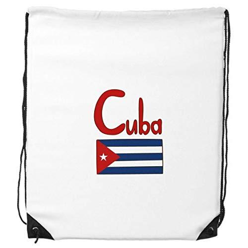 DIYthinker Kuba Nationalflagge Rot-Blau-Muster-Rucksack-Shopping Sport Taschen Geschenk