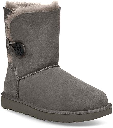 UGG Bailey Button II Grey, Zapatillas Altas para Mujer, Gris (Gray), 39 EU