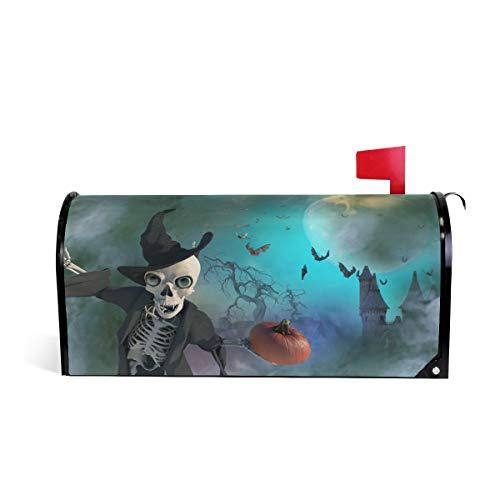 ZZKKO Magnetic Mailbox Covers Funny Halloween Skeleton...