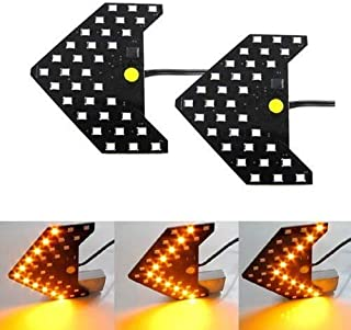 iJDMTOY Sequential Flashing 33-SMD Side Mirror <<< LED Turn Signal Arrows, Amber Yellow