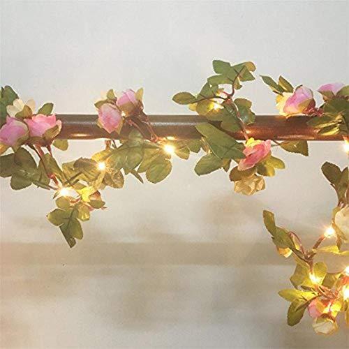 Yukio Festival - LED Blumen Lichterkette Stimmungsbeleuchtung, 2M 10LEDs warmweiß batteriebetrieben