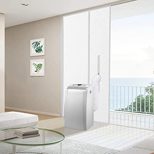 Maylove 90x210CM Reißverschluss-Türdichtung für mobile Klimaanlagen, Wäschetrockner und Abgastrockner, AirLock zum Anbringen an Türen, keine Bohrlöcher erforderlich