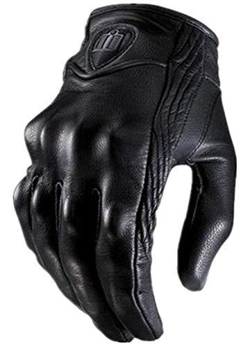 XUELIZHOU Gants de moto résistants aux chocs pour homme, Mixte, Noir , grand