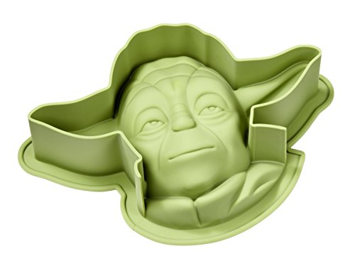 Star Wars Yoda Silikon Backform, grün, 27.5 x 18.5 x 7 cm