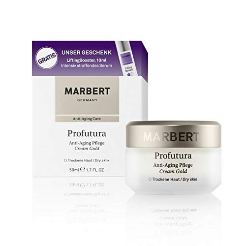 Marbert Profutura Anti-Aging Pflege Gold Trockene Haut 50 ml LiftingBooster Serum 10 ml