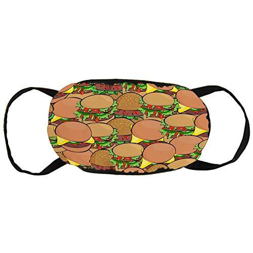 Cheyan Custom Katoen Respirators Mode Mond Masker Unisex Anti-Stof Vervuiling Fietsen Half Gezicht Oorlus Hamburger Sandwich Brood