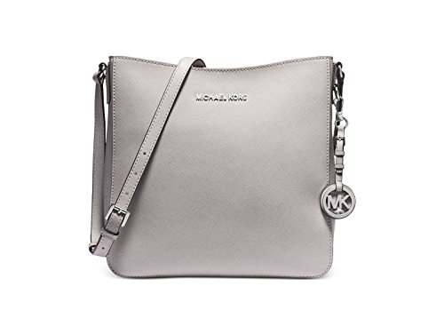 """Genuine saffiano leather with silver tone hardware Top zip closure Adjustable shoulder strap with 22"""" drop Interior features back wall zip pocket, 4 slip pockets, key keeper Approximate dimensions 10""""(L) x 10""""(H) x 3""""(D)"""