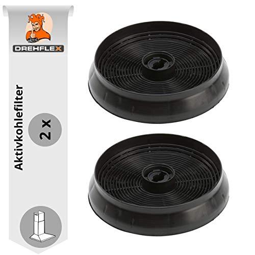 DREHFLEX - AK69-2 - 2 Stück Aktivkohlefilter Kohlefilter Carbonfilter Dunstabzugshaube 145mm - passend für Refsta Hauben - passend für Kohlefilter K25.1