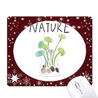 天然植物soloisland絵 オフィス用雪ゴムマウスパッド