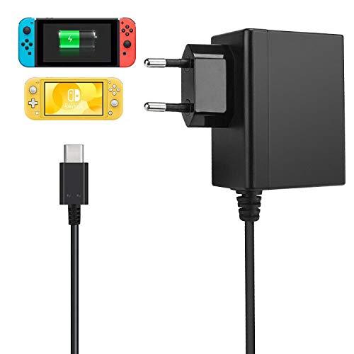 TechKen Switch Netzteil Type-C Ladegerät Charger für Switch,Type C USB Kabel Ladegerät Wand Reise 15V PD Schnellladegerät Fast Charge für Switch Konsole Dock Oder Pro Controller