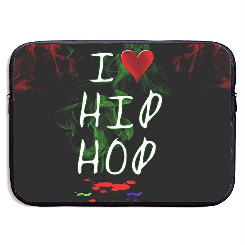 Funda Impermeable para portátil de 15 Pulgadas, I Love Hip Hop Business Maletín Protector de maletín, Funda para Ordenador BAG-1567