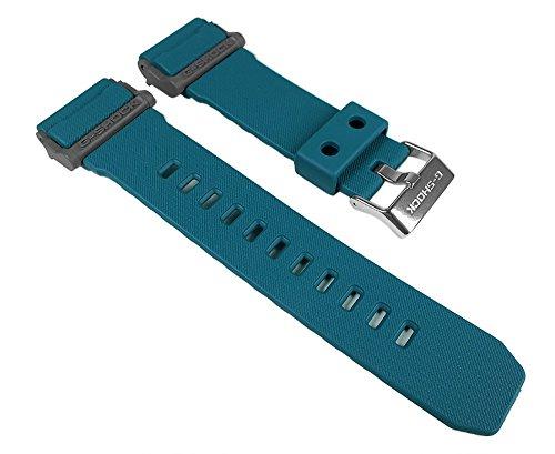 Casio - Cinturino in resina per orologio GD-400-2W GD-400, colore: Petrolio
