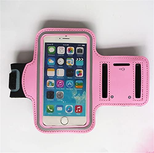 WJJCDD Brazalete para Correr Impermeable, iPhone 12/12 Mini / 12 Pro / 11Pro / XR/XS/X / 8 Soporte de Brazo para teléfono móvil, Soporte 4.7, 5.5, 6.5 Pulgadas, (Rose Red,L)