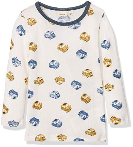 Name It Nmmwang Wool Needle Ls Top Noos T-Shirt À Manches Longues, Multicolore (Snow White), 50L (Taille Fabricant: 98) Bébé garçon