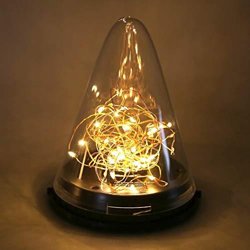 Changor Lámpara Colgante Solar Resistente al Desgaste, 13x16cm con ABS + PC 2200mAH para jardín de Patio de Patio Exterior