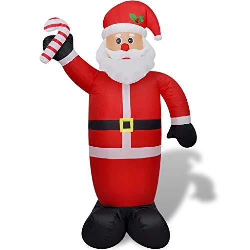 hobby e sport Addobbo Natalizio Babbo Natale Gonfiabile 240 cm Colore Rosso