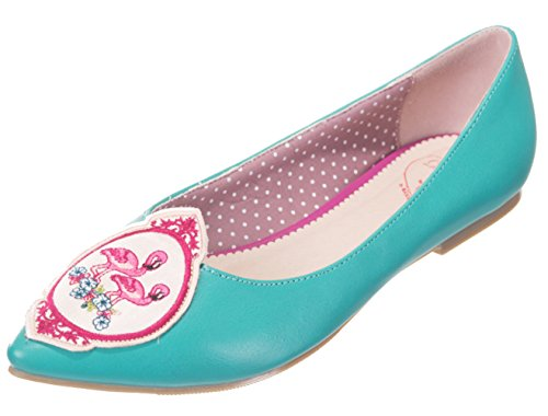 Dancing Days Damen Schuhe Flamingo Birds Ballerinas Grün Ballerinas 38