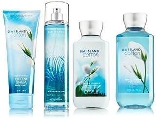 Sea Island Cotton Gift Set Signature Collection - Bath & Body Works - Body Lotion - Fragrance Mist - Body Cream & Shower G...