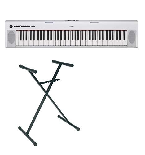 Pack Yamaha NP-32 blanco - Piano digital 76 teclas + soporte en X
