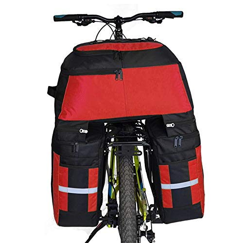 Lightinthebox FJQXZ 70L Bike Panniers Bag,Bike Rack Bag 3 in 1 Waterproof Cycling Bike Bag (Red)