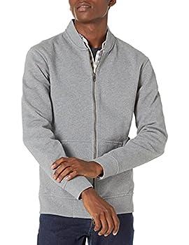 Amazon Brand - Goodthreads Men s Fleece Bomber Heather Grey X-Large