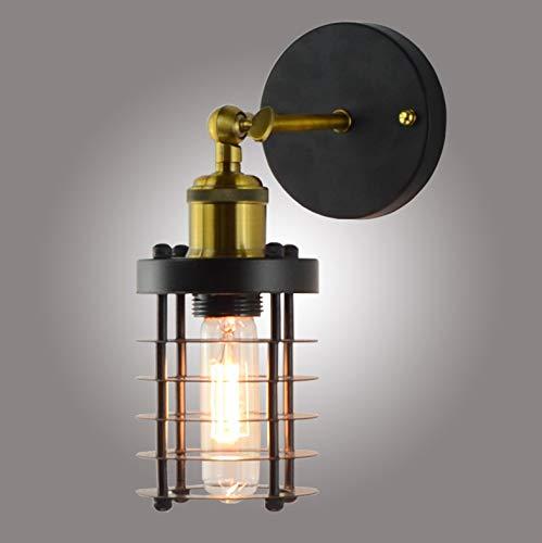 Multifunctionele modelleerlamp Retro smeedwerk holle wandlamp loft industriële windgang gangpad bed restaurant kleine ijzeren kooi wandlamp, E27 220V, lampen niet inbegrepen.