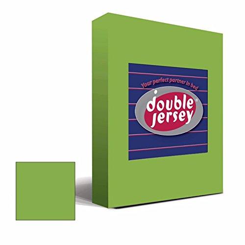 Double Jersey – Spannbettlaken 100% Baumwolle Jersey-Stretch bettlaken, Ultra Weich und Bügelfrei mit bis zu 30cm Stehghöhe, 160x200x30 Grün - 2