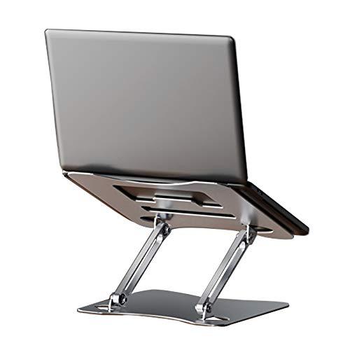 Soporte para Computadora Portátil De Aleación De Aluminio Soporte para Portátil Ventilado Ajustable Compatible con 11 '' -17 '' MacBook Tabletas iPad Robusto Duradero