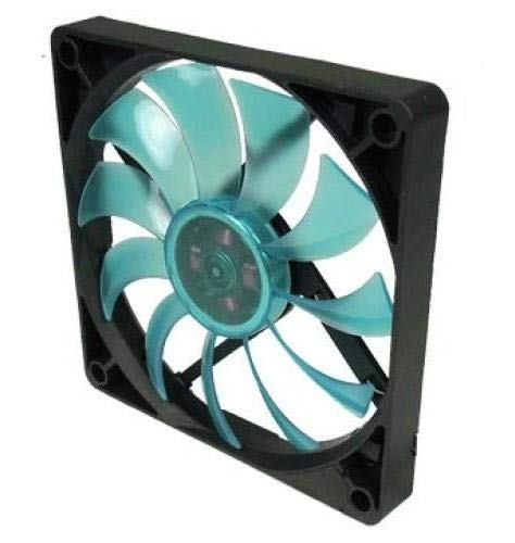 Gelid Solutions Slim 12 UV Blue - Ventilador de 120mm | Alto Rendimiento Mediante rodamiento hidrodinámico | Velocidad del Ventilador 1500 RPM | 3 Pines Molex | 12V.