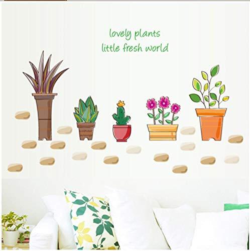 Behang Muralspotted Plants Veranda Kast Glas Raam Slaapkamer Slaapbank Tv Achtergrond Decoratieve Muurstickers