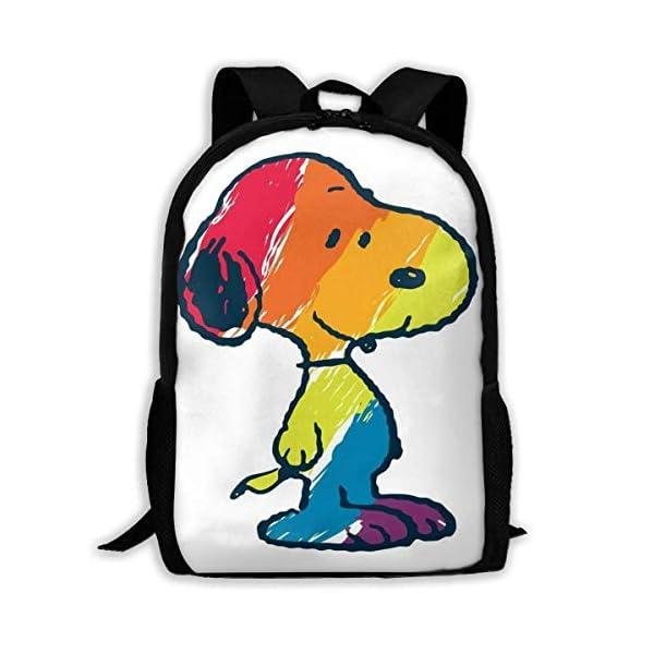 41vDkvDj4tL. SS600  - Kimi-Shop Mochila Escolar Colorida Snoopys Mochila Mochila para niñas niños