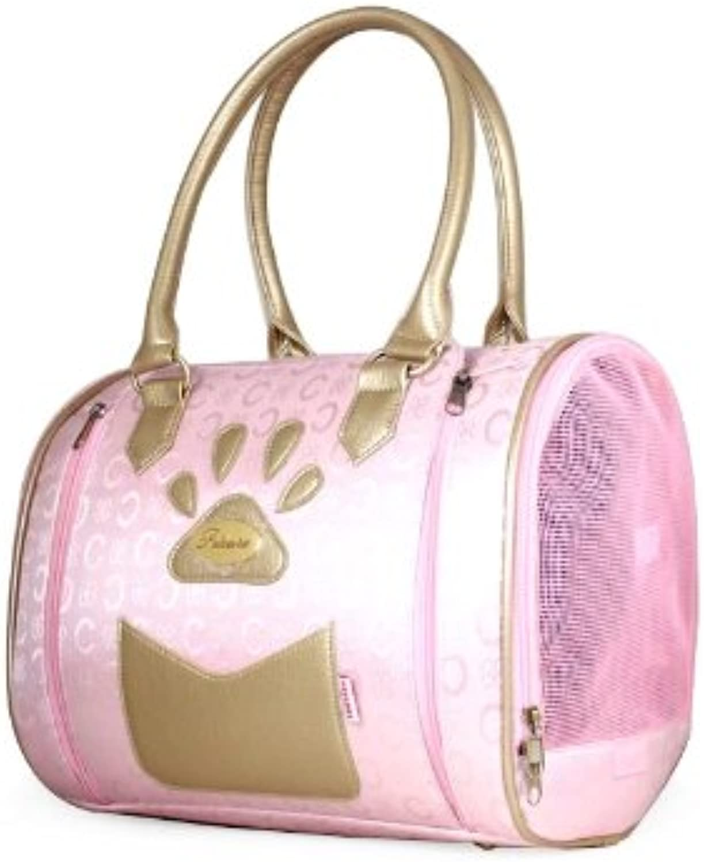 Petcares Leather Pressurized Fashion Design Dogs Carrier Bag (PkL)