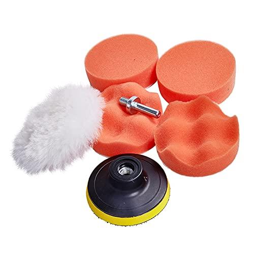 Cepillo de Limpieza de automóviles Poder Scrubber Brush Brish Auto Sponge Pading Pad Pick Detalking Cepillo para la Rueda Limpie Las Herramientas de Limpieza de automóviles (Color : 6Pcs)