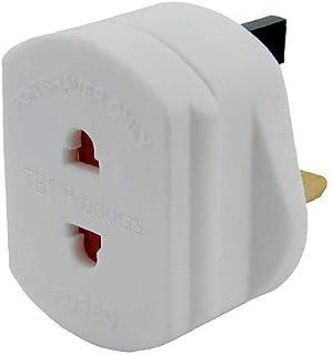Universele EU 2 Pin naar UK 3 Pin Plug Reizen Wit Adapter Converter Scheerapparaat Adapter Plug voor Badkamer Stekkers Pow...